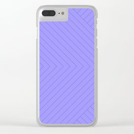 Linear Stripes - Light Purple Clear iPhone Case