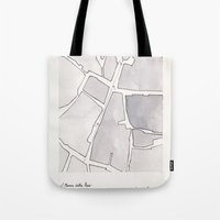 lee pace Tote Bags featuring Santa Maria della Pace by Patrick Bourgeois