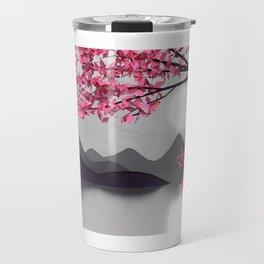 Low Poly Pink Tree Travel Mug