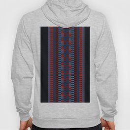 Checkered Ethnic Mosaic Pattern Hoody