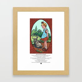 Did You Eat the Last Cupcake? Framed Art Print