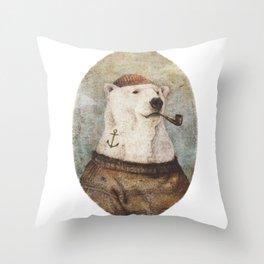Onto the Shore Throw Pillow