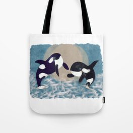 Whale dance Tote Bag