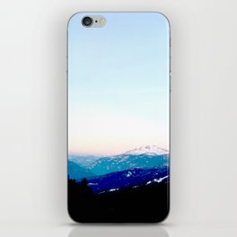 Mountain views abstracted to color blocks iPhone Skin