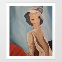 Lady that Lunches Art Print