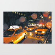 Cabs in the Rain Canvas Print