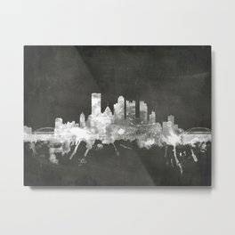 Pittsburgh Pennsylvania Skyline Metal Print