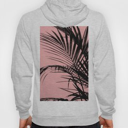 Palm leaves paradise with peach Hoody