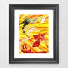 The Flasher Framed Art Print