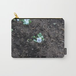Blue Pansy Carry-All Pouch