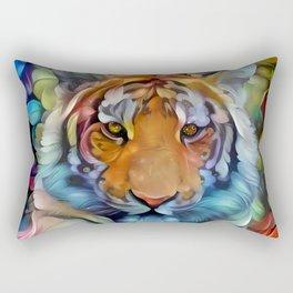 Painted Tiger Rectangular Pillow