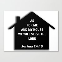 verse Canvas Prints featuring Bible verse by cmphotography