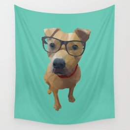 Kane the Staffie Dog Polygon Art Wall Tapestry