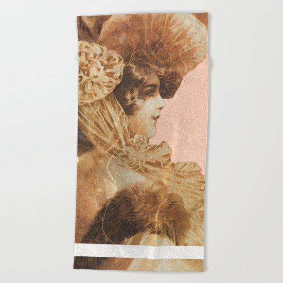 Vintage Lady Beach Towel