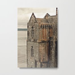Mont St. Michel - Square Tower - Brittany France Metal Print