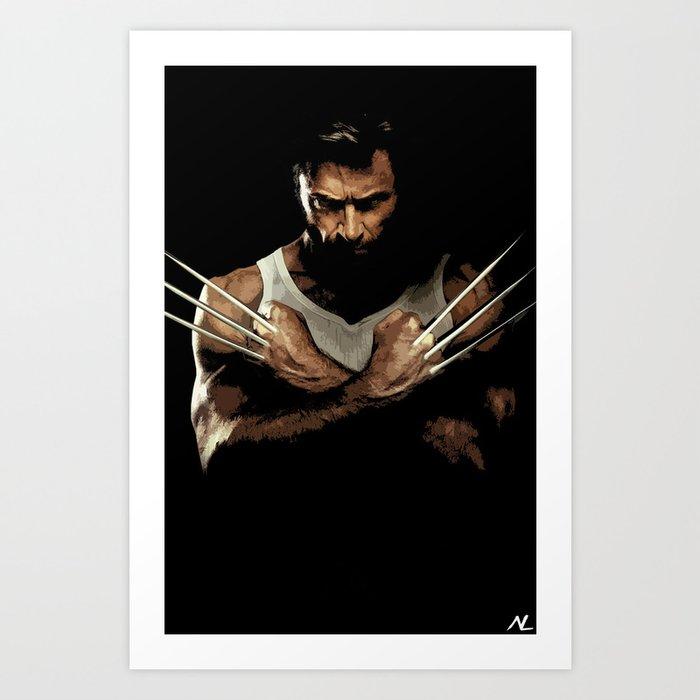 Xmen Hugh Jackman Wolverine 2 Pop Art Poster Art Print