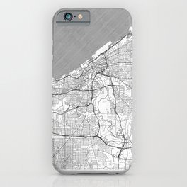 Cleveland Map Line iPhone Case