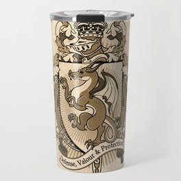 Dragon Coat Of Arms Heraldry Travel Mug