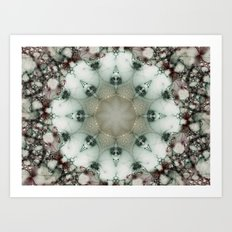 Creamy Mosaic Art Print