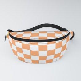 Gingham Orange Mango Checked Pattern Fanny Pack