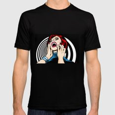 Screaming Sixties X-LARGE Mens Fitted Tee Black