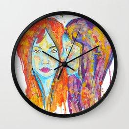 chantal et miriam Wall Clock