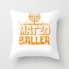 Matzo Baller Jew And Christian Gift Throw Pillow