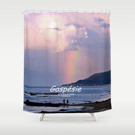 Rainbow on the Coast Shower Curtain