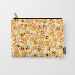Candy Corn Emoji Pattern Carry-All Pouch