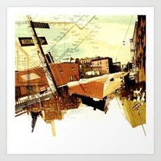 One way to Brooklyn, NY Art Print