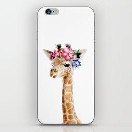 Baby Giraffe with Flower Crown iPhone Skin