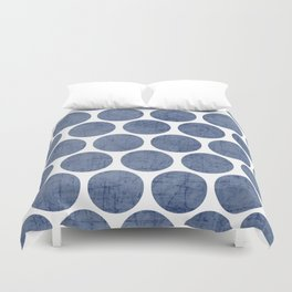blue polka dots Duvet Cover