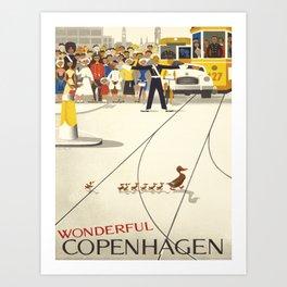 Vintage poster - Copenhagen Art Print