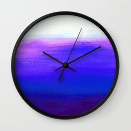 Peace 1 Blue Landscape Abstract Wall Clock