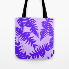 Decorative Grape Purple Ferns Glen on Lilac Color Tote Bag