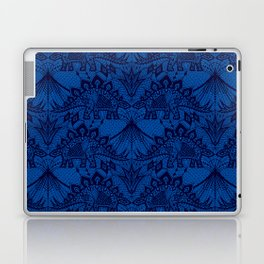 Stegosaurus Lace - Blue Laptop & iPad Skin