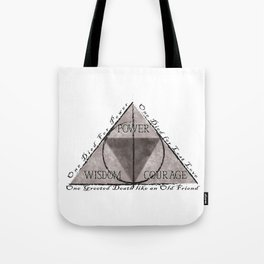 Tri Force & Deathly Hallows Tote Bag