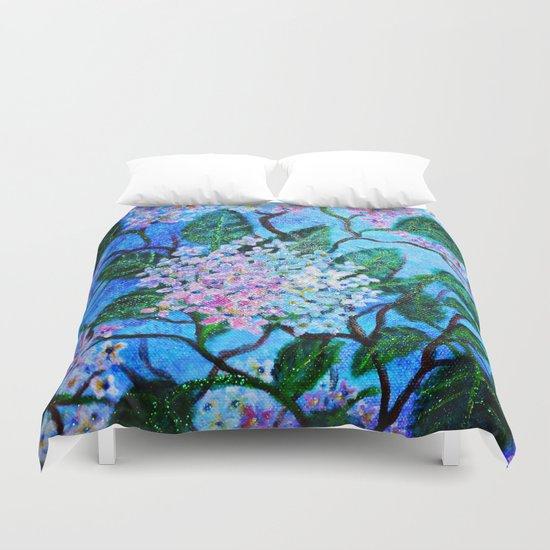 Hydrangea Flowers Duvet Cover
