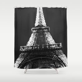 retro eiffel tower  Shower Curtain