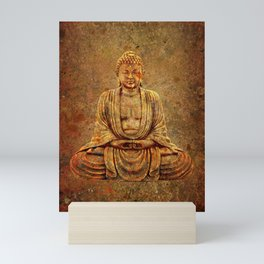 Sand Stone Sitting Buddha Mini Art Print