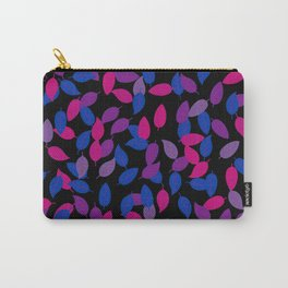 Bisexual Pride Scattered Leaves Pattern Carry-All Pouch