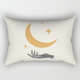 Moonlight Hand Rectangular Pillow