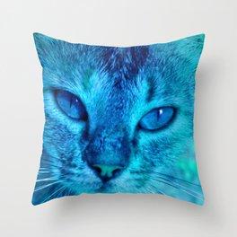 cats eyes: ischia Throw Pillow