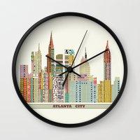 atlanta Wall Clocks featuring Atlanta by bri.buckley