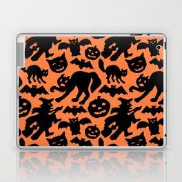 Retro Halloween Silhouettes Laptop & iPad Skin