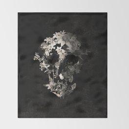 Spring Skull Monochrome Throw Blanket