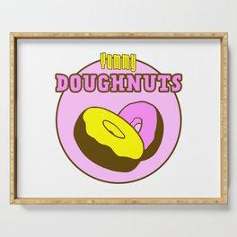 Vintage Yummy Doughnuts Retro Donuts Design Serving Tray