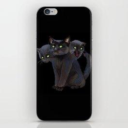 3 HEADED KITTY iPhone Skin