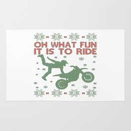 Dirtbike Christmas Rug