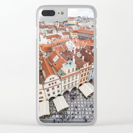 Prague Old Town Square Houses Clear iPhone Case